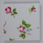 Wall Tile in Clarke and Clarke Rosebud Chintz